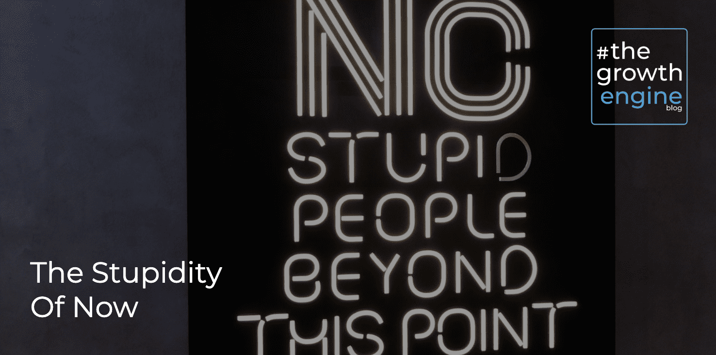 GEC - The Stupidity Of Now - Blog Header